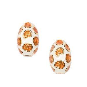 Kenneth Jay Lane KJL Enamel Giraffe Earrings